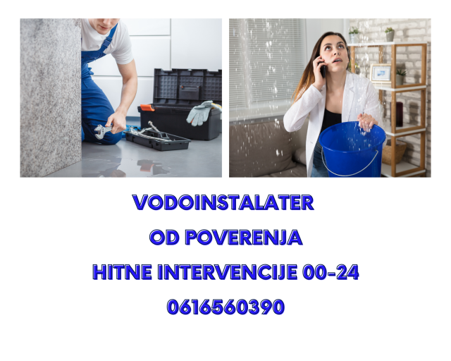 Vodoinstalater Vozdovac hitne intervencije